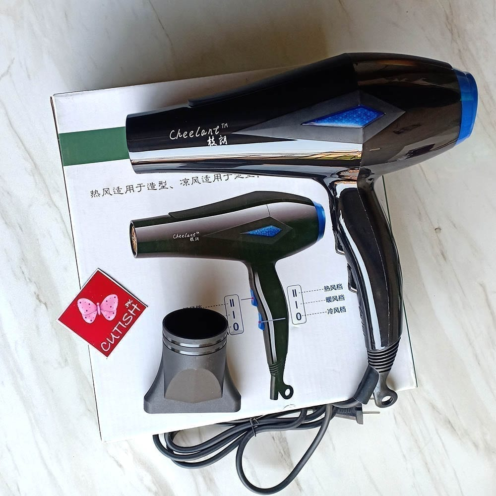 Professional Cheelant Hair Dryer with Double Heat and LED Full Size M – 220 V (5)