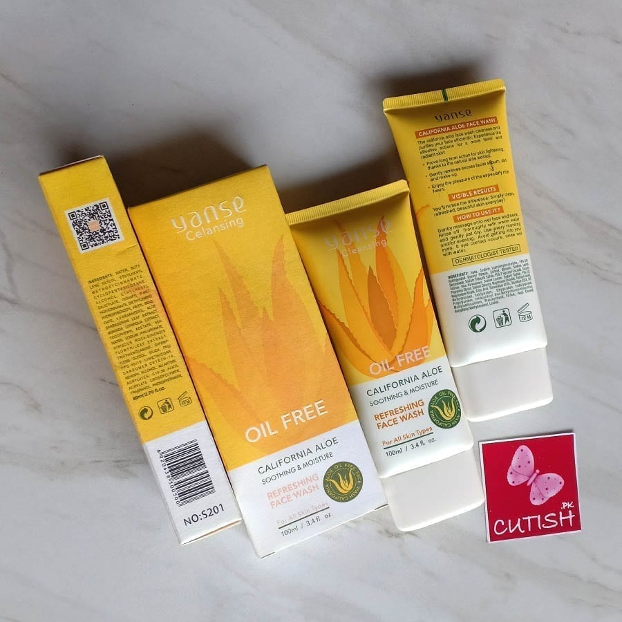 Yanse Cleansing California Aloe Soothing & Moisture Face Wash (6)