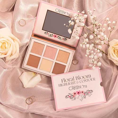 Beauty Creations Floral Bloom Highlight & Contour Palette1