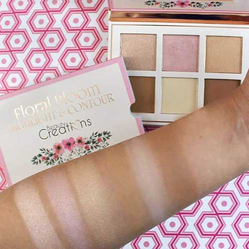 Beauty Creations Floral Bloom Highlight & Contour Palette3