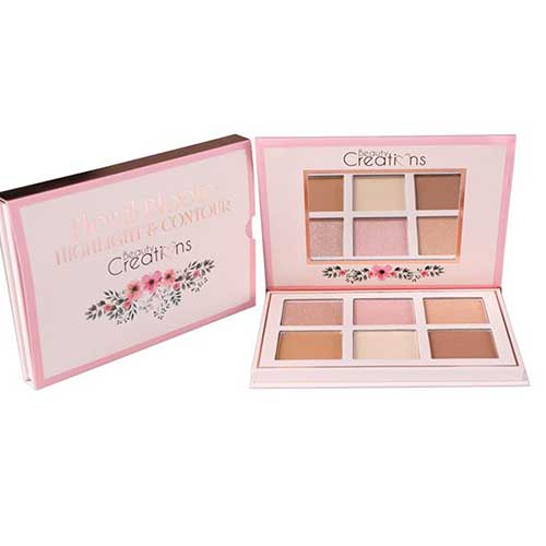 Beauty Creations Floral Bloom Highlight & Contour Palette8