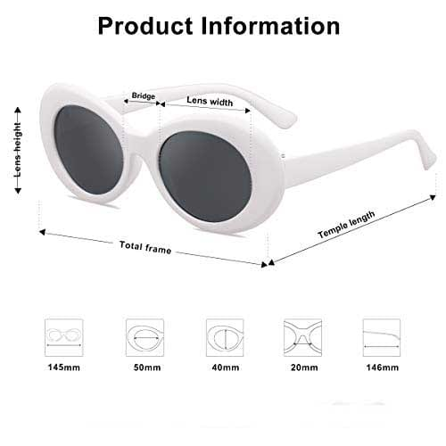 Sojos Clout Classic Style Oval Sunglasses Inspired by Kurt Cobain 2