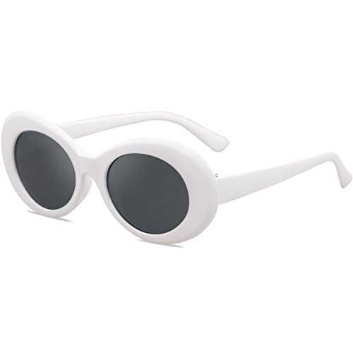 Sojos Clout Classic Style Oval Sunglasses Inspired by Kurt Cobain